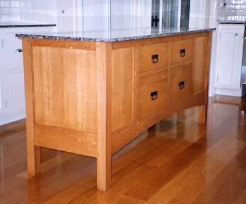 arts and crafts kitchen island  rh   rbwoodworking com